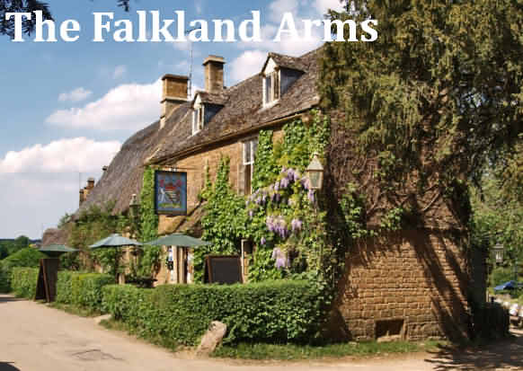 The Falkland Arms at the village of Great Tew