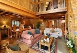 Walnut living room
