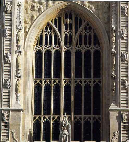 Jacobs Ladder either side of Bath Abbey west Entrance