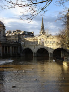 Pulteney Bridge designed by Robert Adam