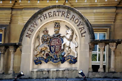 The Crest above the entrance to the Theatre Royal
