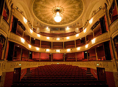 The Theatre Royal interior viewed from the stage