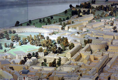Building of Bath scale model of the city