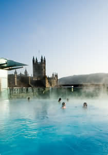 Rooftop swimming at the Thermae Bath Spa