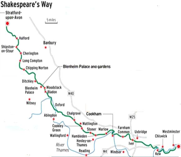 Route of Shakespeare's Walk
