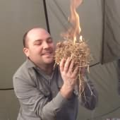 Fire making at Bushcraft