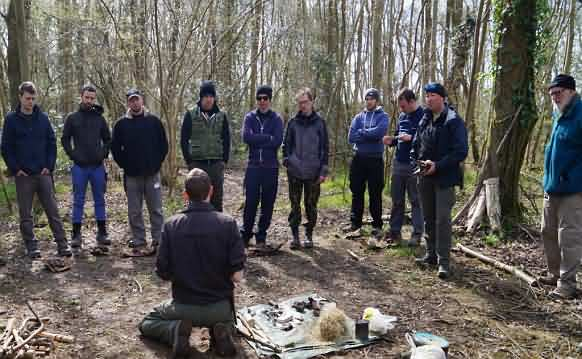 Participants at Hands on Bushcraft