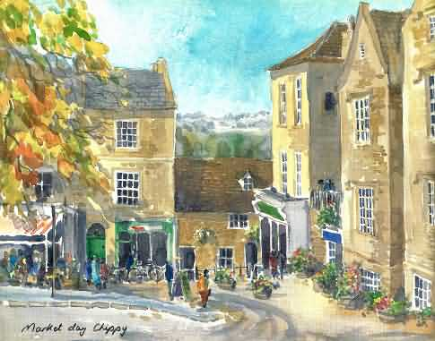 Water colour of Chipping Norton