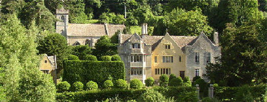 Owlpen Manor west of Stroud