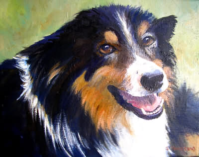 Painting of Collie Dog