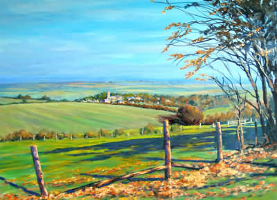 Painting of a Cotswold View