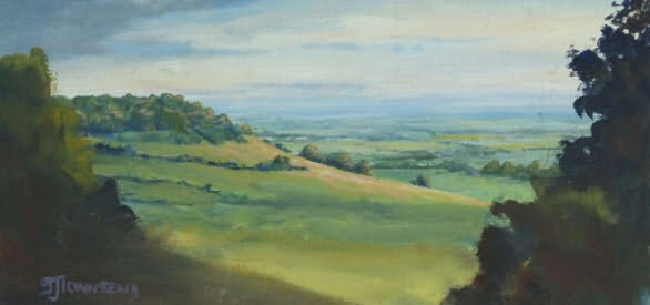 Painting of a Cotswolds scene by Sue Townsend