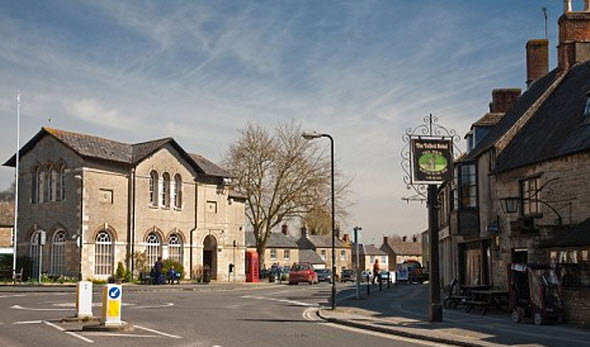Cotswold village of Bampton in Oxfordshire