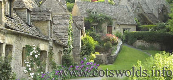The village of Bibury in the Gloucestershire Cotswolds