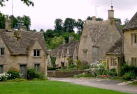 The Cotswolds village of Bibury