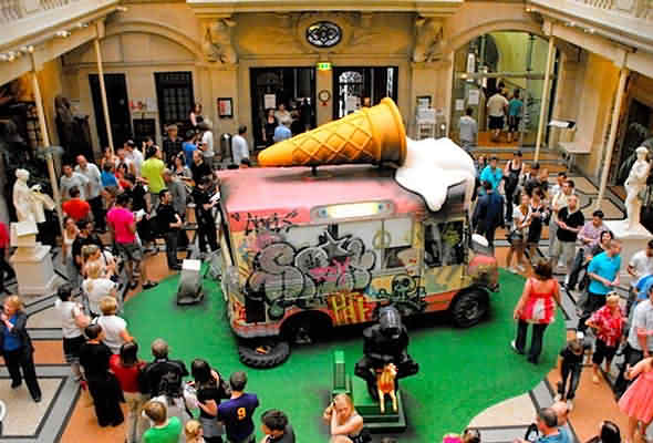 Banksy's Ice Cream Van at the Bristol Museum