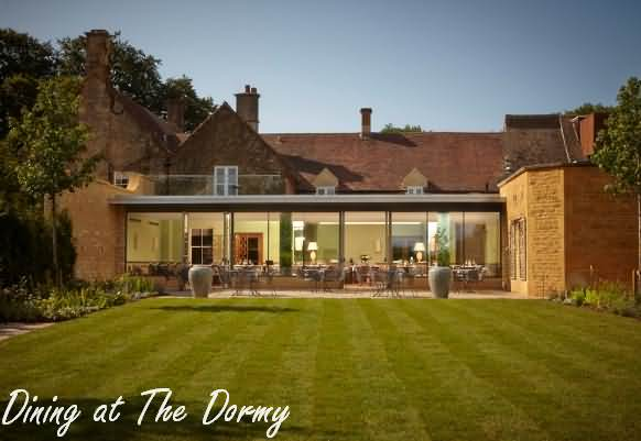 Dining at the Garden Restaurant at Dormy House Hotel