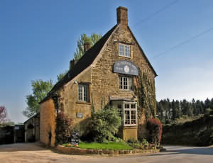 The Ebrington Arms at Ebrington Village near Chipping Campden