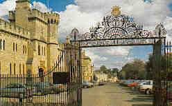 Cecily Hill and gates of Cirencester Park