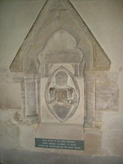 Monument in commemoration of the burial of Sir Giles Berkeley's heart