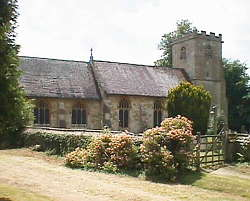 St Giles church at the Cotswold village of Coberley