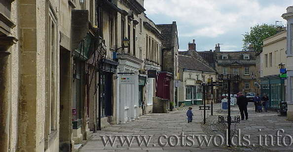 The historic market town of Corsham in Wiltshire Cotswolds