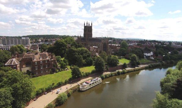 Worcester on the River Severn
