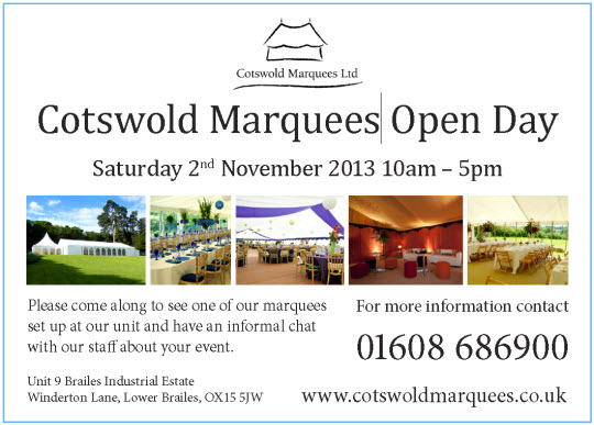 Cotswold Marquees Event