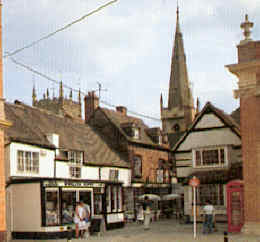 Evesham old  part of town