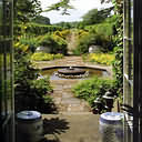 Part of Highgrove garden from french windows