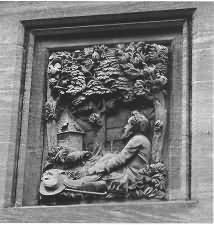 William Morris memorial carving
