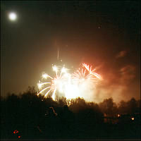 Bonfire night on 5 November throughout England