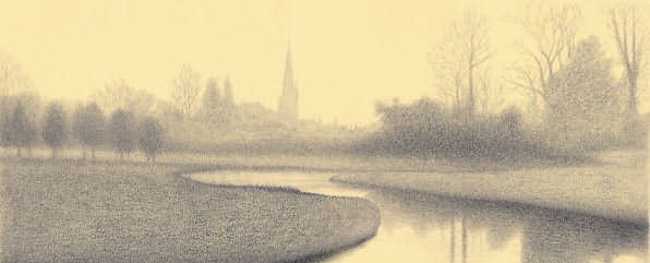 Sketch of Burford by Richard Grassi