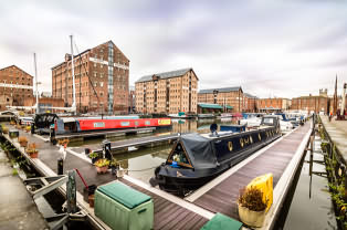 Gloucester docks with narrow boats
