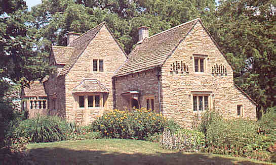 Cotswolds Rose Cottage in Greenfield Village, Dearborn, Michigan, USA