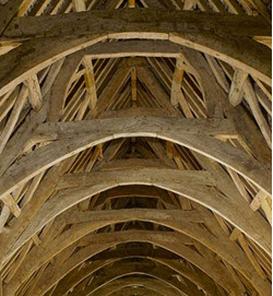Tithe Barn typical oak timber supporting structure
