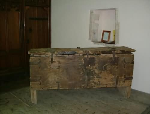 Ancient Wooden Chest at St. Mary's