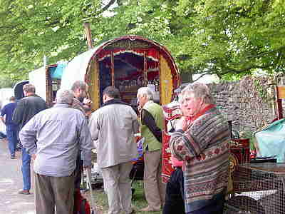 Curiosity over a Gypsy Caravan