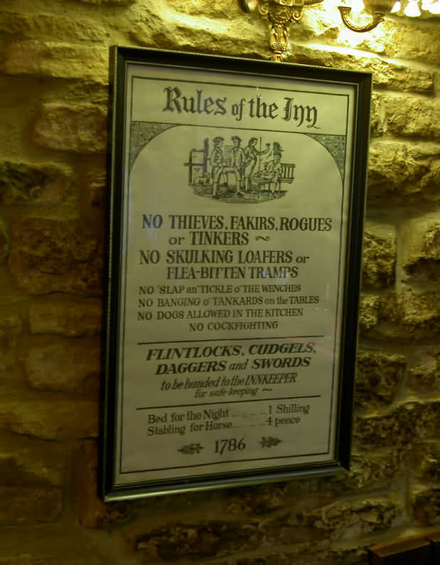Rules of the English Inn