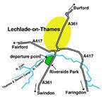 Lechlade-upon-Thames map