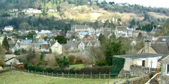 The southern Cotswolds town of Nailsworth