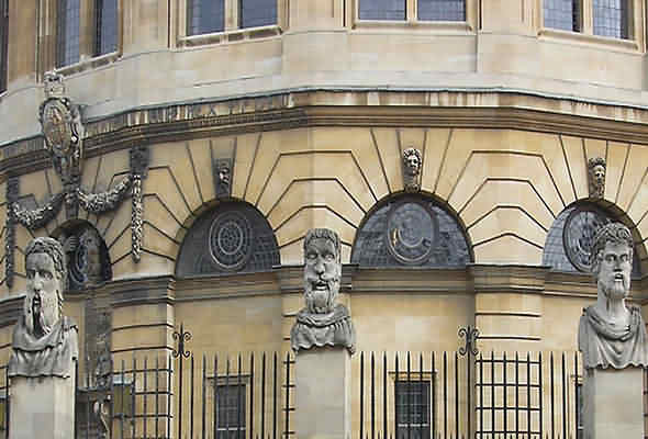 Close up of Sheldonian Theatre