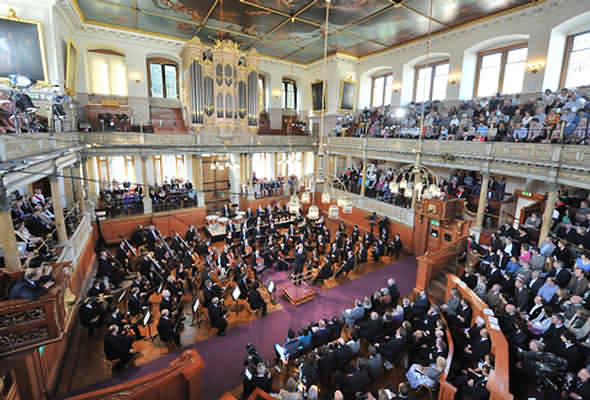 Inside the Sheldonian Theatre