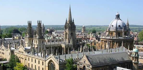 The City of Oxford in Oxfordshire