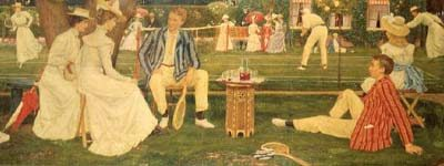 The Tennis Party by Charles Gere