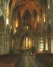 Inside Pershore Abbey