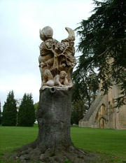 Sculpture by Tom Harvey in the Abbey Grounds