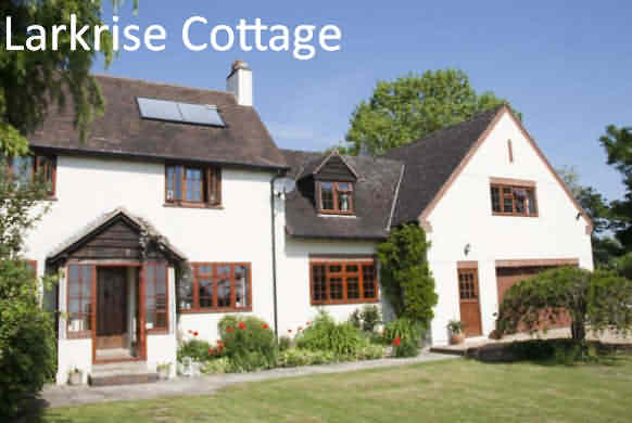 Bed and Breakfast Accommodation in Shakespeare Country, Larkrise Cottage bandb, Upper Billesley, Stratford-upon-Avon, Warwickshire