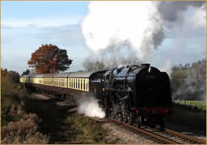 Steam locomotive on GWR line