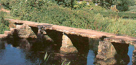 'Clapper Footbridge' at  East Leach Martin